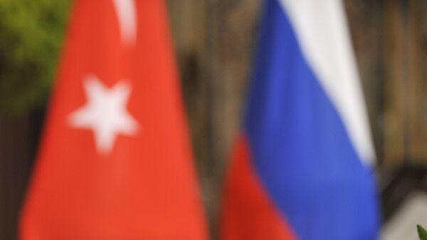 Russian and Turkish flags. (File) - Sputnik International