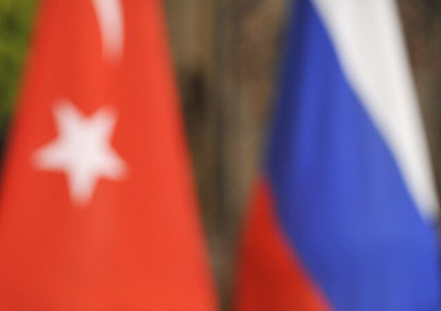 Russian and Turkish flags. (File)