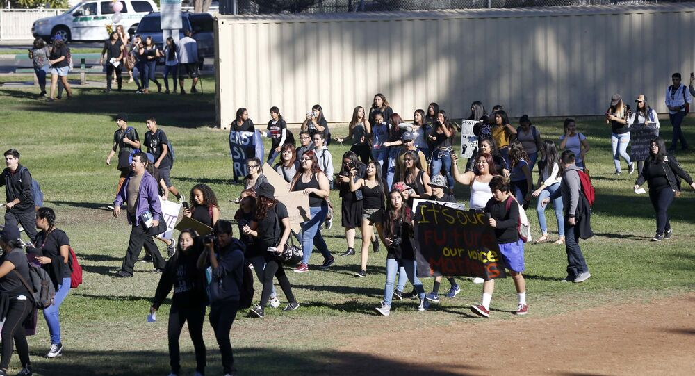 Mass Student Walk-Outs Across US Protest Trump Election Win