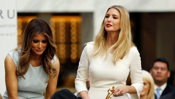 Melania (L) and Ivanka Trump (R) attend an official ribbon cutting ceremony and opening news conference at the new Trump International Hotel in Washington, DC, 26 October 2016.  - Sputnik International