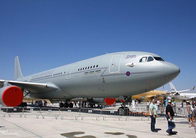 Royal Air Force Airbus A330-203 at Airbus factory of Getafe, Spain.