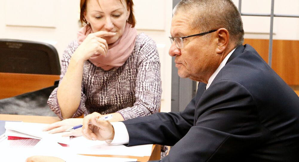 Russian Economy Minister Alexei Ulyukayev who was detained by law enforcement officials on corruption charges, attends a hearing at the Basmanny district court in Moscow, Russia, November 15, 2016.