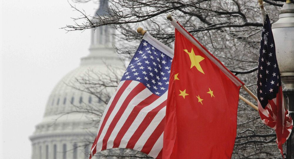 Chinese and U.S. flags. (File)
