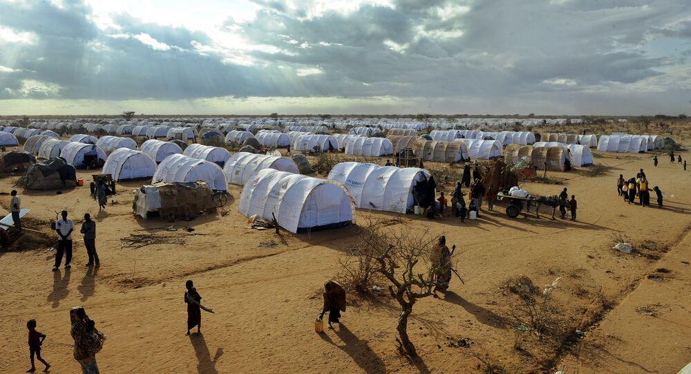 Refugees walking  at the Dadaab refugee camp in Kenya (File)