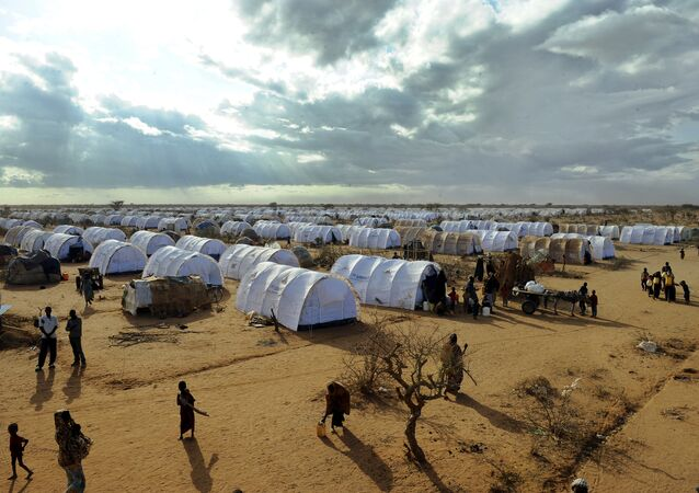 Refugees walking  at the Dadaab refugee camp in Kenya (File)