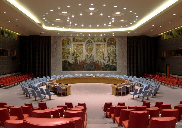 United Nations Security Council on the United Nations Headquarters in New York City