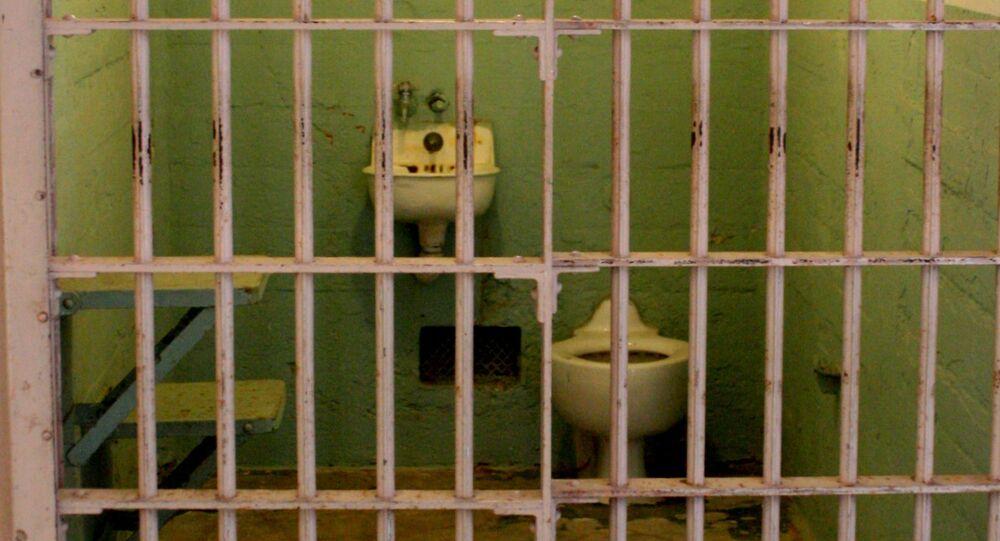 Toilet in prison