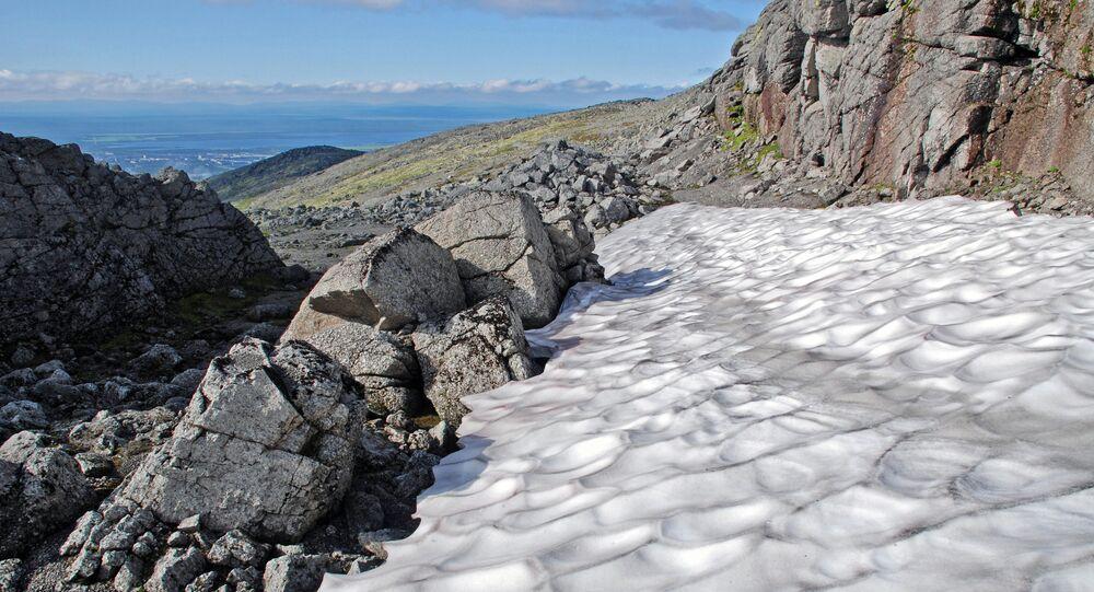 Khibiny range near Apatity town in the Murmansk Region