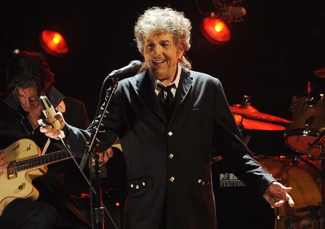 In this Jan. 12, 2012, file photo, Bob Dylan performs in Los Angeles