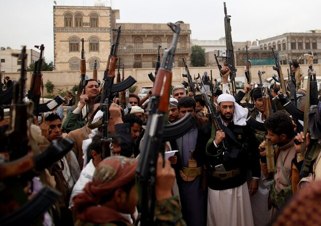 Tribesmen attend a tribal gathering to show support to the Houthi movement in Sanaa, Yemen November 10, 2016