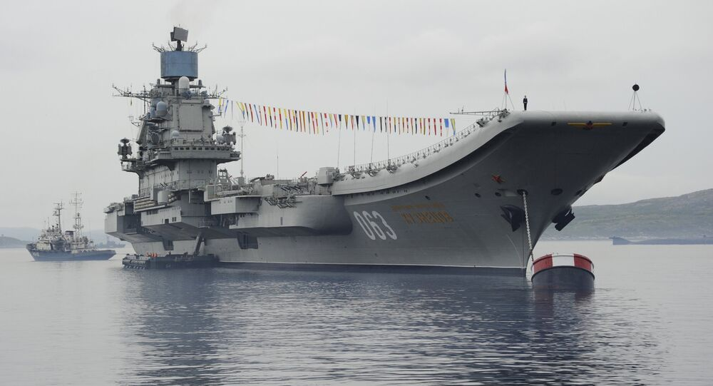 The Admiral Kuznetsov aircraft-carrying cruiser in Severomorsk. File photo