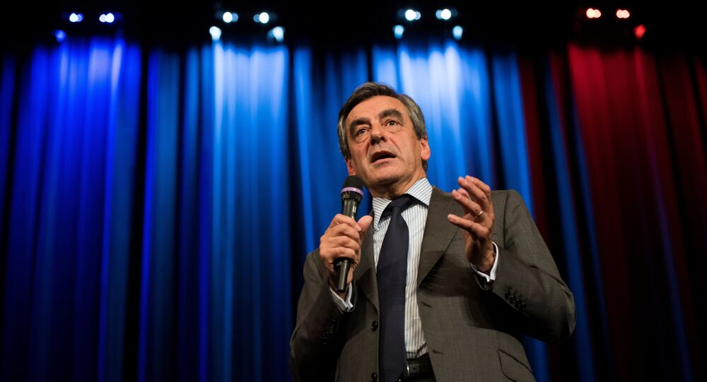 Right-wing Les Republicains (LR) party's candidate for the party's primary ahead of the 2017 presidential election, Francois Fillon (File)
