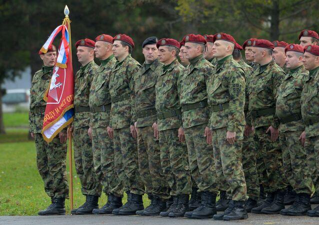 Serbian servicemen. File photo