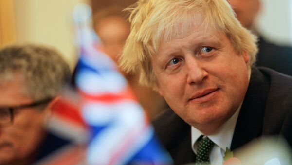 British Foreign Secretary Boris Johnson attends talks with Malta's Foreign Minister George Vella on Brexit in the context of Malta's upcoming presidency of the EU council, in Valletta, Malta, November 9, 2016. - Sputnik International