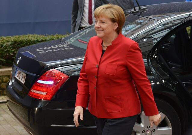 German Chancellor Angela Merkel at the opening of the EU Summit in Brussels.file photo