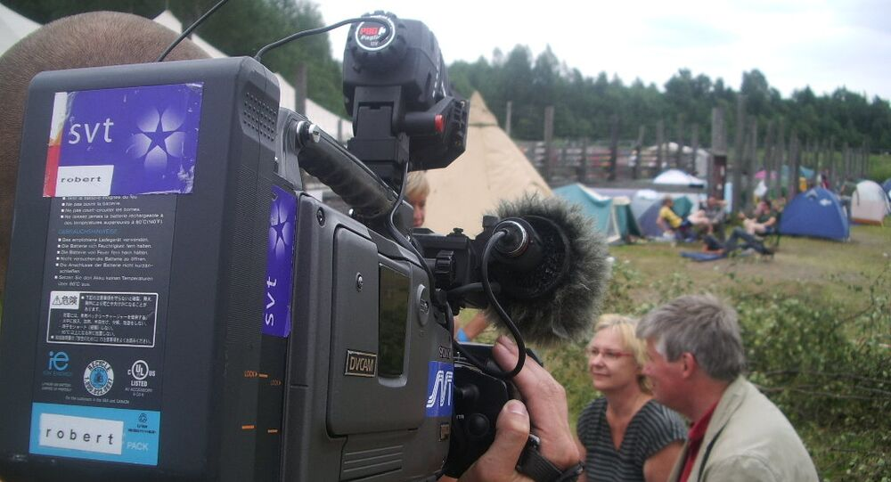 A reporter from SVT