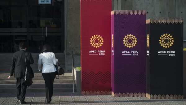 People arrive to the Lima Convention Center during the Asia-Pacific Economic Cooperation (APEC) Summit on November 17, 2016 - Sputnik International