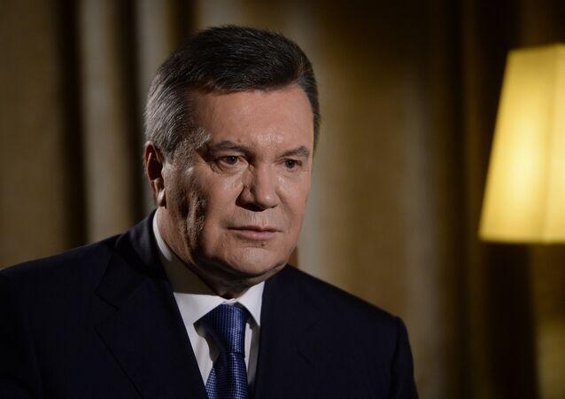 Former Ukrainian President Viktor Yanukovych interviewed by RIA Novosti