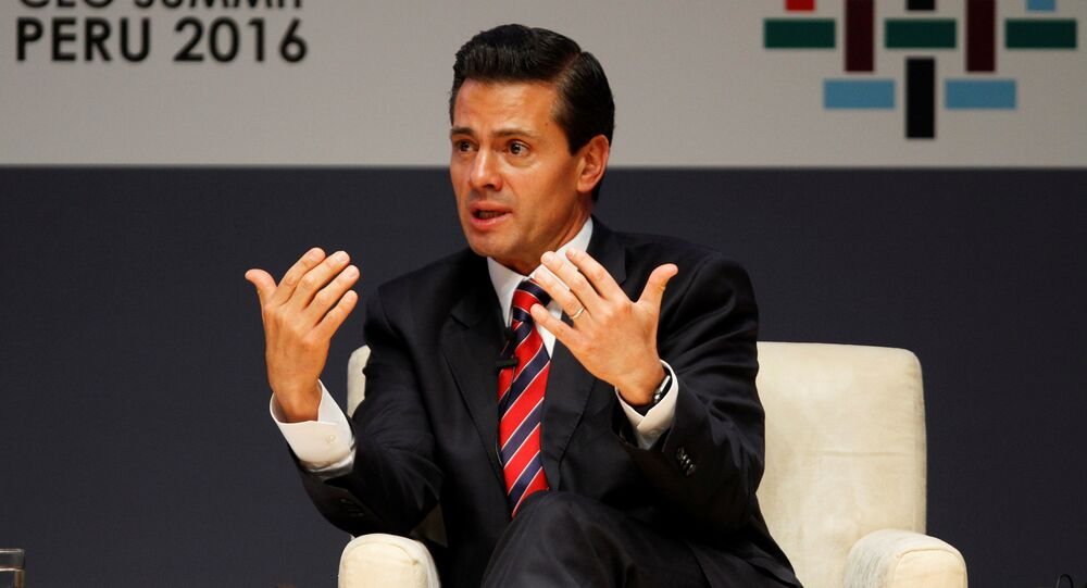 Mexico's President Enrique Pena Nieto attends a meeting at the APEC (Asia-Pacific Economic Cooperation) Ceo Summit in Lima, Peru, November 19, 2016