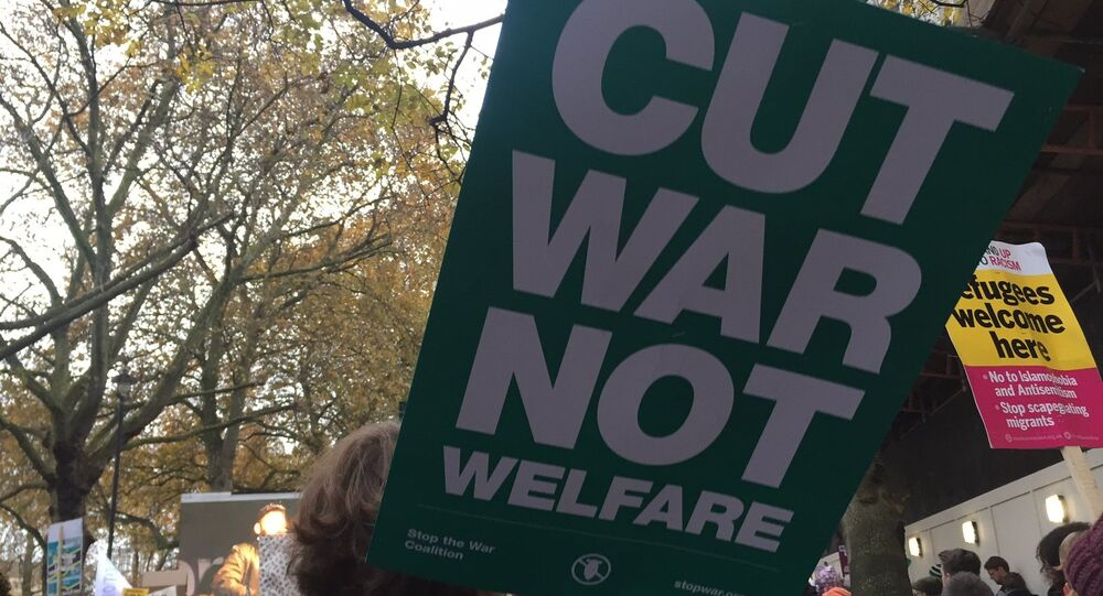Crowds gathered at the #Nov19 Protest Demo outside Parliament Square in London