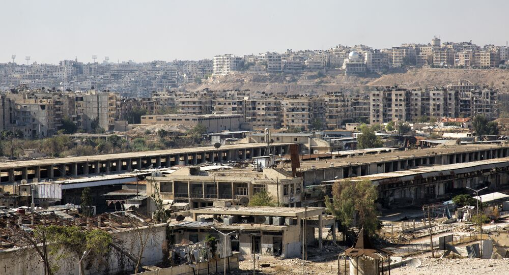 A picture from a rebel-held eastern neighbourhood of Aleppo. (File)