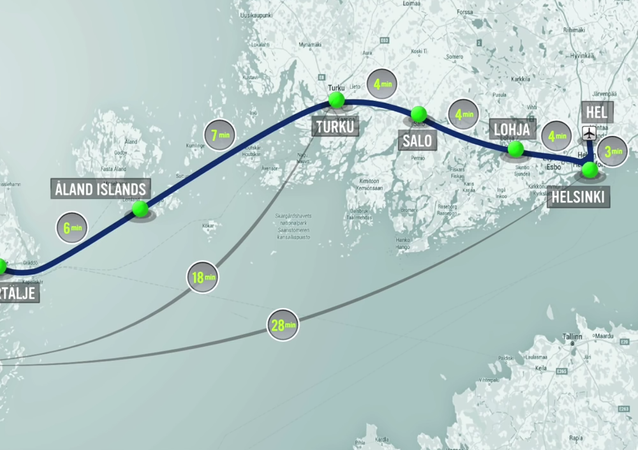 Hyperloop One has formed a partnership with FS Links Ab, to study a potential hyperloop route linking Helsinki and Stockholm the capital cities of Finland and Sweden, routing via the Åland Islands which lie between the two countries in the Baltic Sea.