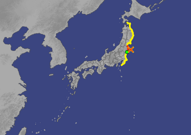 Initial tsunami observations following significant earthquake off Japanese coast