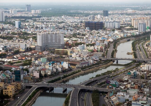 A views of the Saigon River and the center of Ho Chi Minh City. (File)