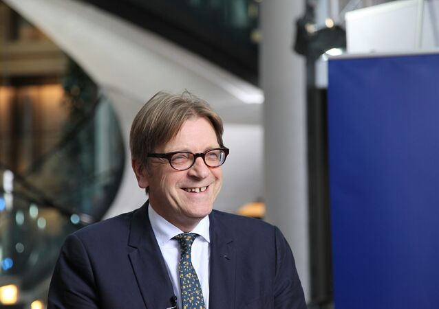 Guy Verhofstadt, president of the Alliance of Liberals and Democrats for Europe