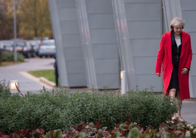 Britain's Prime Minister Theresa May visits the Wellcome Genome Campus in Cambridge, Britain November 21, 2016.