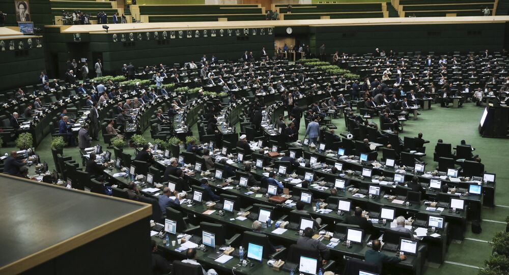 A general view shows the Iranian parliament. (File)