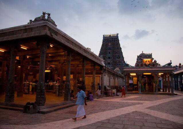 A view on the Kapaleeswarar Temple, Chennai, India.