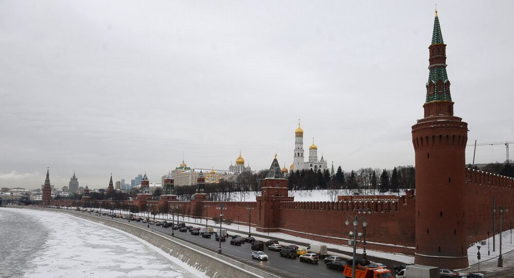 Moscow Kremlin as seen from the Bolshoi Moskvoretsky Bridge. (File)