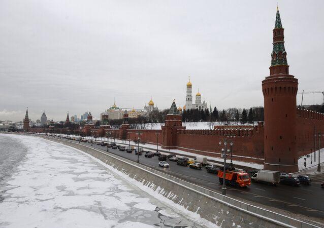 Moscow Kremlin as seen from the Bolshoi Moskvoretsky Bridge. (File)