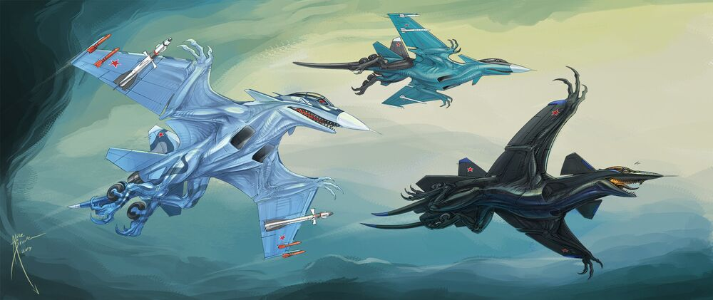 Monsters From Above: Military Aircraft Turned Into Spooky Creatures