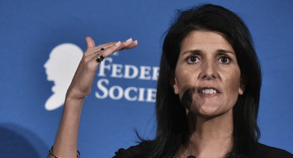 South Carolina Governor Nikki Haley speaks during the 2016 National Lawyers Convention sponsored by the Federalist Society in Washington, DC