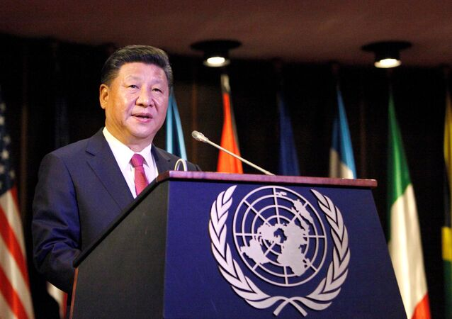 China's President Xi Jinping speaks during a meeting at the Economic Commission for Latin America and the Caribbean (CEPAL) in Santiago, Chile, November 22, 2016