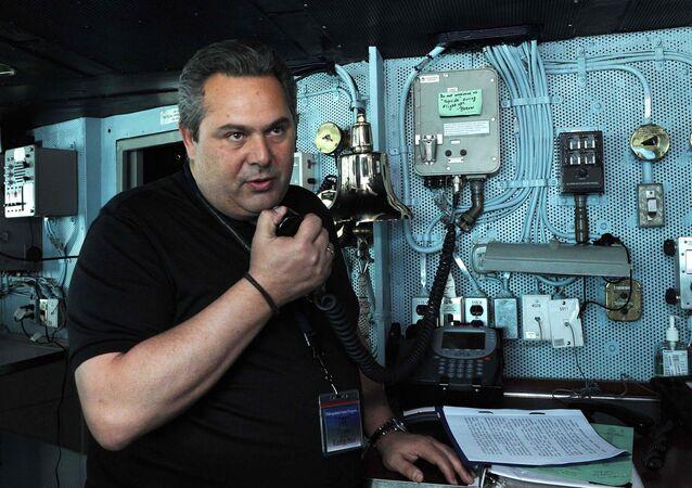 Greek Defense Minister Panos Kammenos (File)