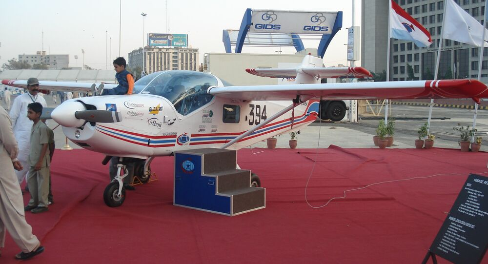 The Super Mushshak on display at the IDEAS 2008 defence exhibition in Pakistan
