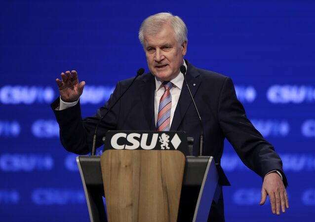 Bavarian State Governor and Chairman of German Christian Social Union party, CSU, Horst Seehofer, gestures during his speech at a party convention of the German Christian Social Union, CSU, in Munich, Germany, Friday, Nov. 4, 2016