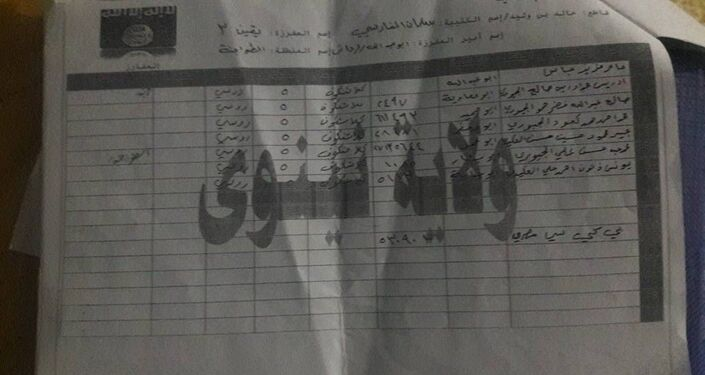Documents found in Iraq's city of Mosul with lists of Daesh militants and the names of stolen Russian weapons they have in their possession