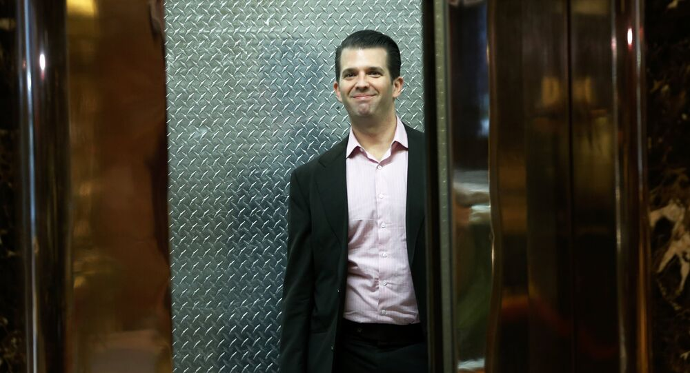 Donald Trump Jr. Stands in an elevator at Trump Tower in the Manhattan borough of New York City, U.S., November 17, 2016