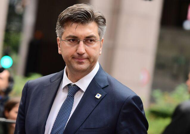 Croatia's Prime Minister Andrej Plenkovic