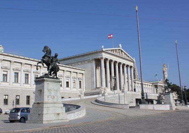 The Parliament building (Parlament), Dr.-Karl-Renner-Ring, Vienna