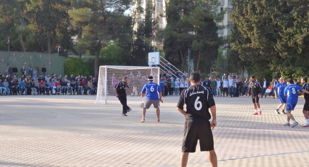 Peace football in Syria