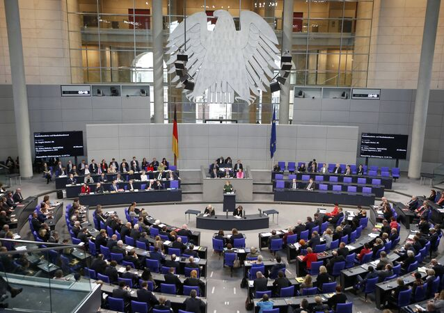 German Chancellor Angela Merkel speaks during a meeting at the lower house of parliament Bundestag on 2017 budget in Berlin, Germany, November 23, 2016