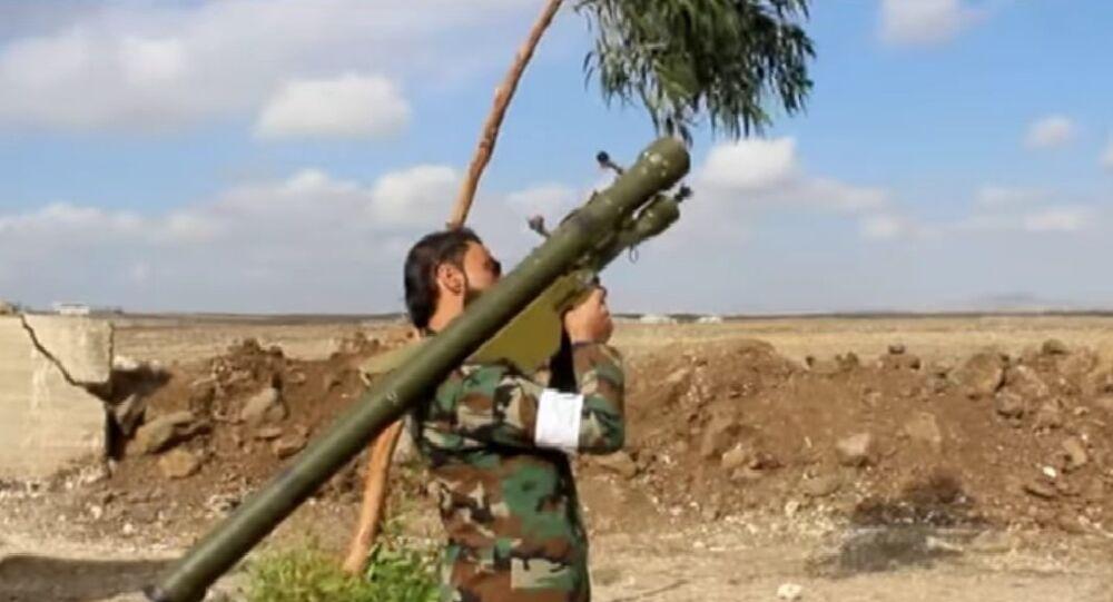 Ansar al-Islam Front with SA-7 Strela-2 anti aircraft weapon