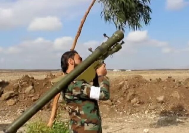 Ansar al-Islam Front with SA-7 Strela-2 anti aircraft weapon