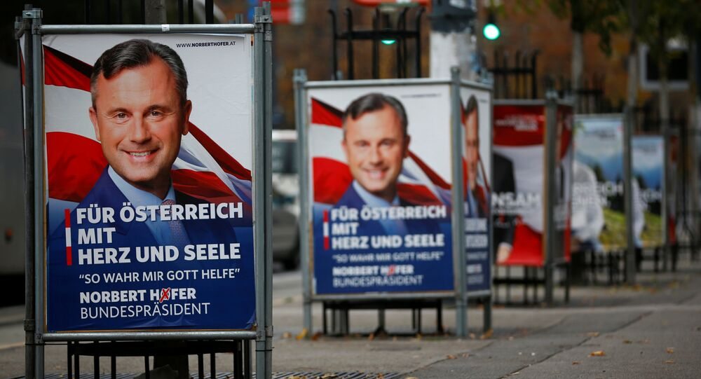 Presidential election campaign posters of far right Freedom Party (FPOe) presidential candidate Norbert Hofer are pictured in Vienna, Austria, November 8, 2016