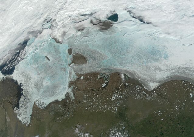 The frozen Laptev Sea